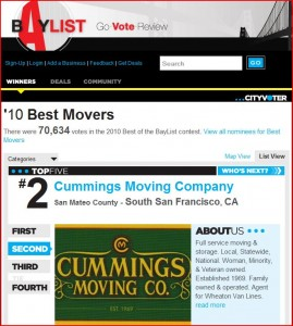 #2 Best San Francisco Movers in 2010