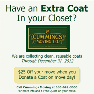 Coat Drive - San Francisco Moving Company & One Warm Coat