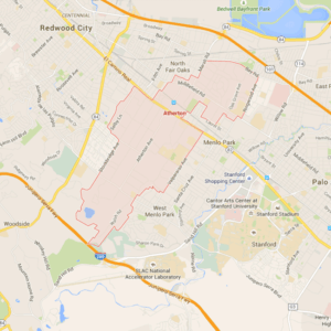 Map of Atherton via Google Maps