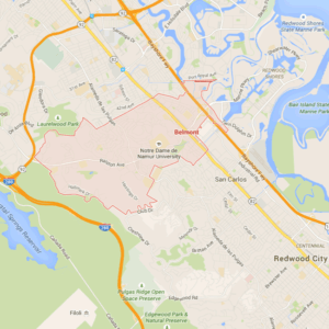 Map of Redwood City via Google Maps