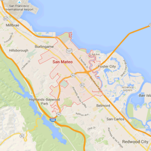 Map of San Mateo via Google Maps