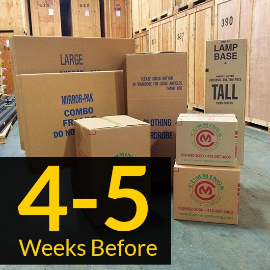 Moving Checklist: 4 - 5 Weeks Before The Move